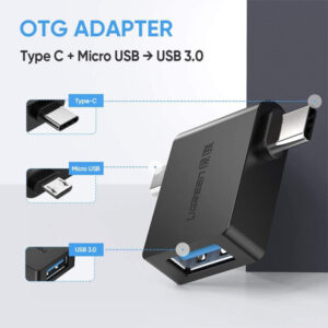 ugreen type c+ micro port to usb converter