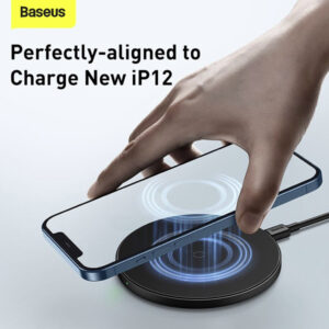 Baseus WXJK-E01 Simple Magnetic Wireless Charger For Iphone 12 12Pro Max Black