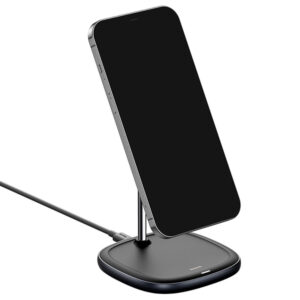 Baseus WXSW-01 Swan Magnetic Desktop Bracket Wireless Charger(suit for IP12) Black